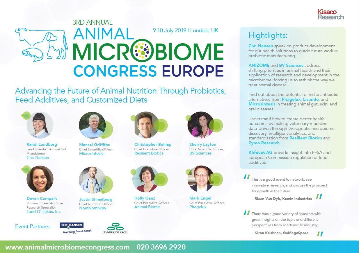 Animal Microbiome EU, Agenda