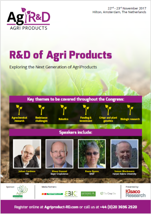 R&D of AgriProducts, agenda front cover