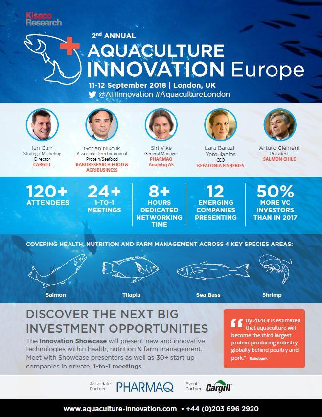 Aquaculture Innovation Summit, agenda front-cover