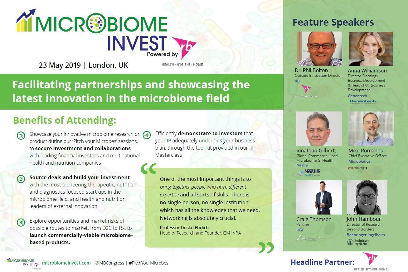 Microbiome Invest 2019, agenda